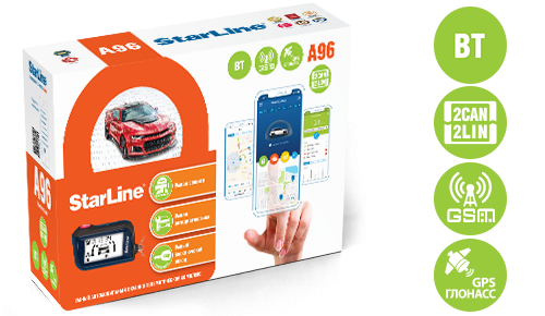 Автосигнализация StarLine A96 BT 2CAN-2LIN GSM-GPS