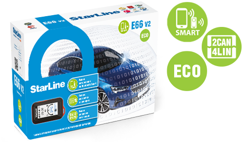 Автосигнализация SL E66 v2 BT ECO 2CAN-4LIN